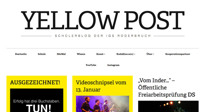 YellowPost – Deutsche Zeitungsverleger prämieren Schülerblog