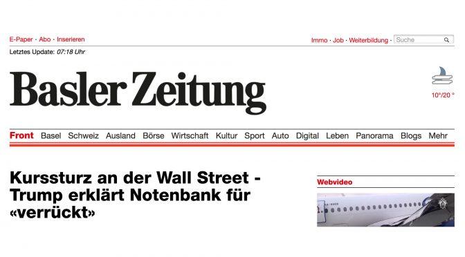 WEKO genehmigt Übernahme der Basler Zeitung durch Tamedia