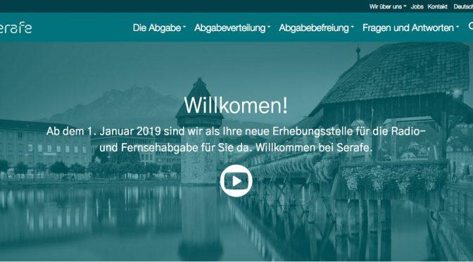 Serafe: Neue Abgabe für Radio und Fernsehen